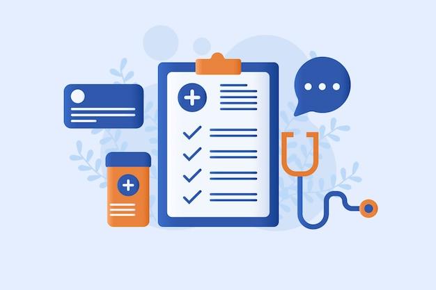Ziektekostenverzekering vector illustratie