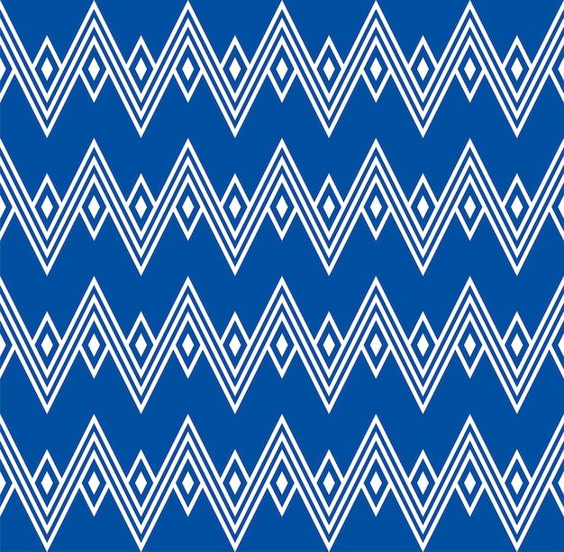 Zig zag etnische inheemse wigwam bergen naadloze patroon bochten pleinen backdrop