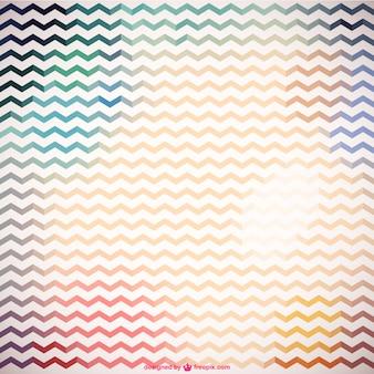 Zigzag retro kleurrijk patroon
