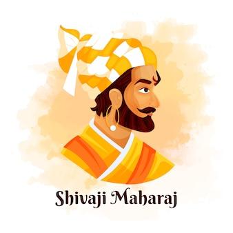 Zijaanzicht shivaji maharaj geïllustreerd