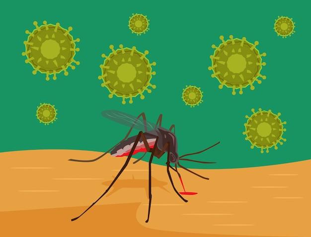 Zika-virus. illustratie