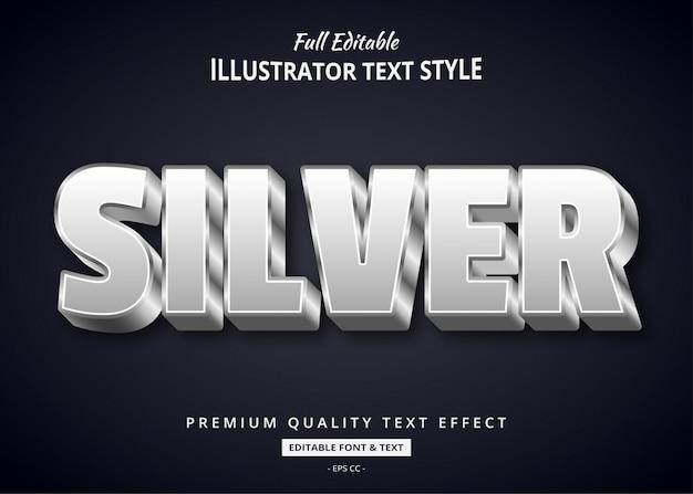 Zilver 3d-tekststijleffect