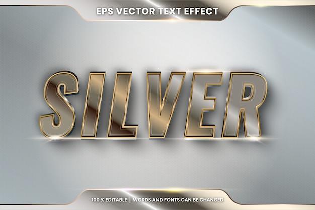 Zilver bewerkbaar teksteffect