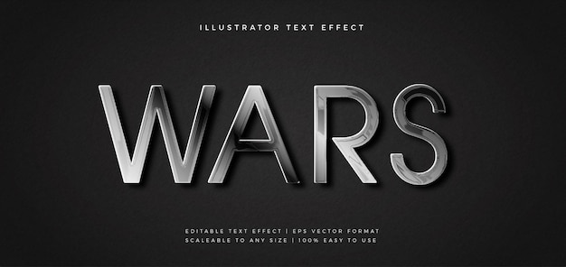 Zilver elegant monochroom tekststijl lettertype-effect