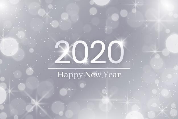 Zilver gelukkig nieuw jaar 2020