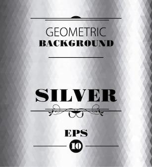 Zilver geometrische achtergrond