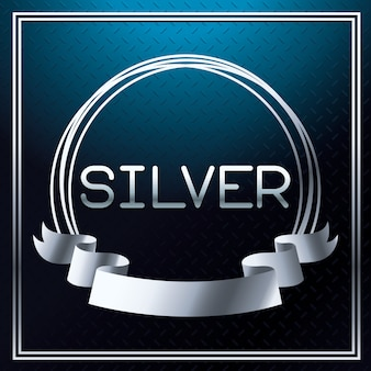Zilver lettertype