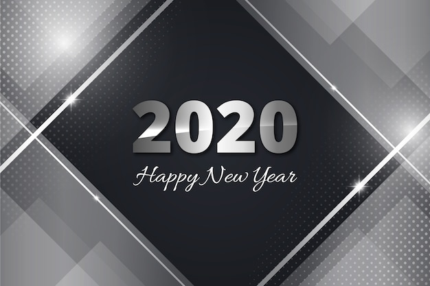 Zilver nieuw jaar 2020 behang