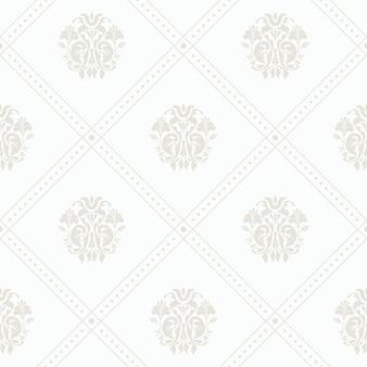 Zilver vintage naadloze behang met raster vector achtergrond