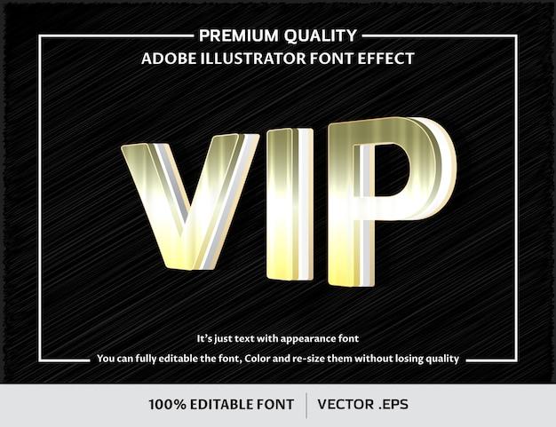 Zilver vip 3d bewerkbaar lettertype-effect
