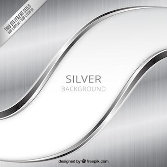 Zilveren achtergrond in golvende stijl