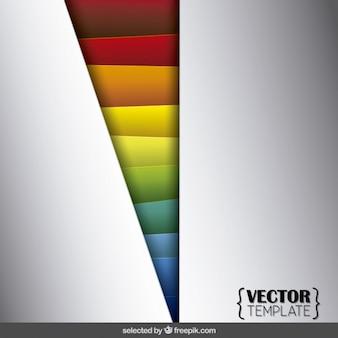 Zilveren achtergrond met kleurrijke vormen