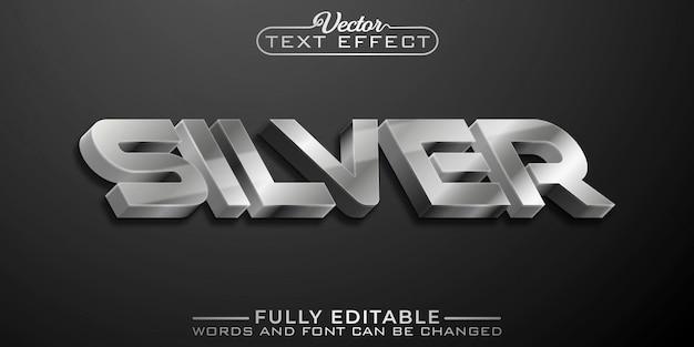 Zilveren bewerkbare teksteffectsjabloon