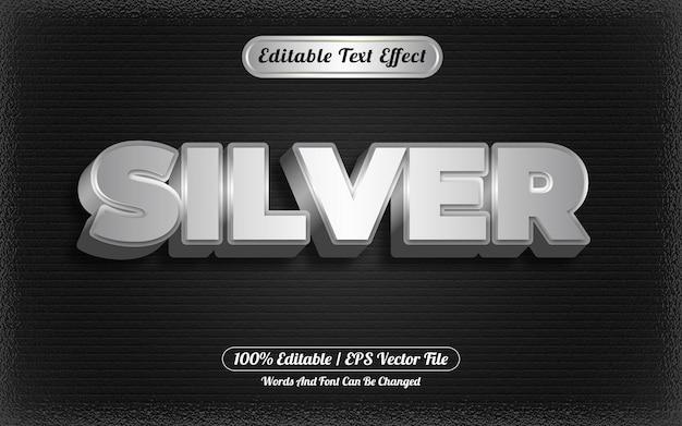 Zilveren bewerkbare teksteffectsjabloonstijl