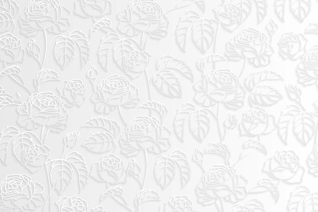 Zilveren bloemmotief achtergrond