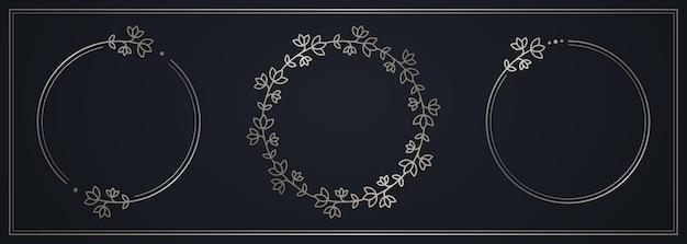 Zilveren cirkel bloem frame verloop zilveren bloem
