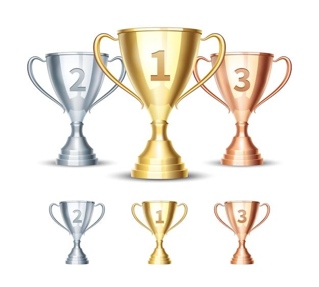 Zilveren en bronzen winnaarsbeker