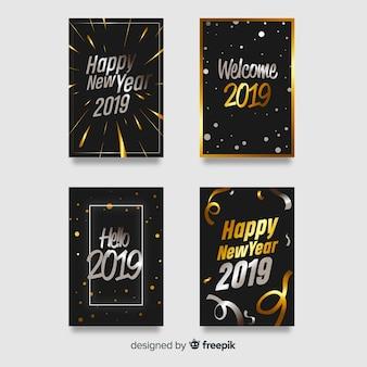Zilveren en gouden nieuwjaarskaartinzameling