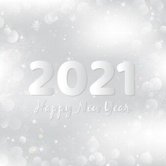 Zilveren gelukkig nieuwjaar 2021 achtergrond