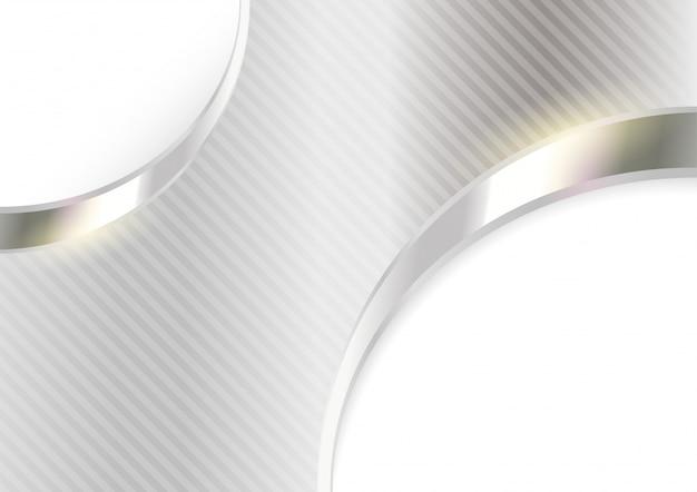 Zilveren gestreepte metalen achtergrond
