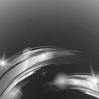 Zilveren golf abstracte illustratie als achtergrond
