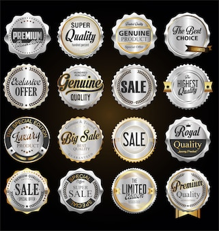 Zilveren kentekens en labels van topkwaliteit