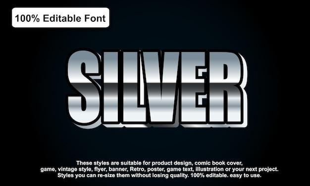 Zilveren lettertype-effect