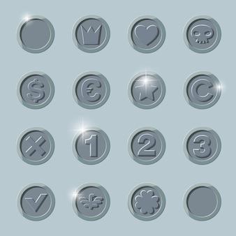 Zilveren munten set