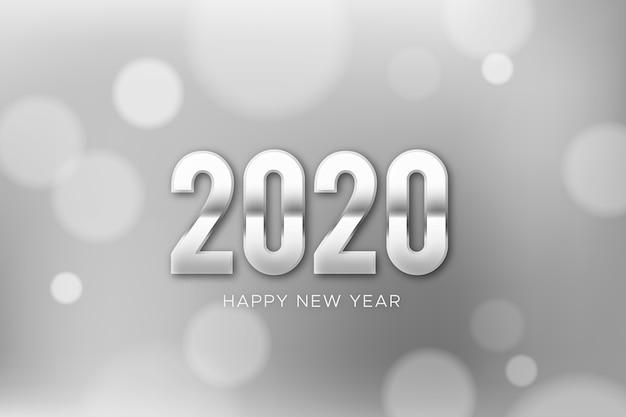 Zilveren nieuwe jaar 2020 achtergrond