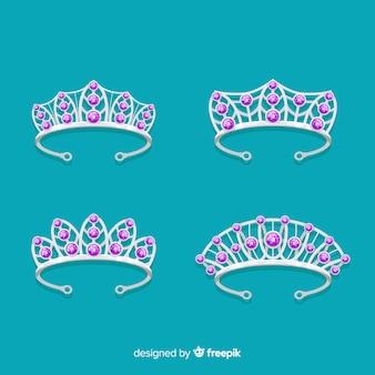 Zilveren prinses tiara-collectie