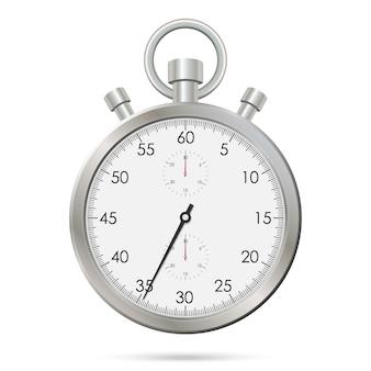 Zilveren realistische stopwatch