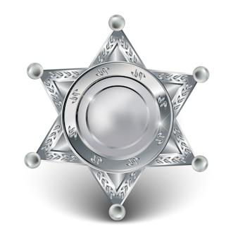 Zilveren sheriffster