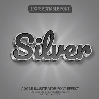 Zilveren tekst, bewerkbaar lettertype-effect