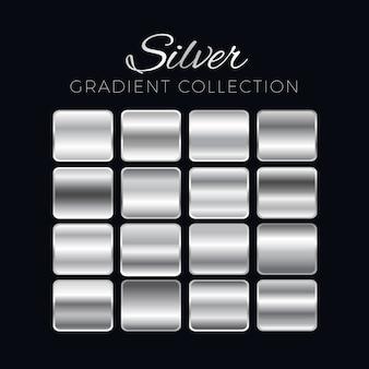 Zilveren verloop blokken collectie