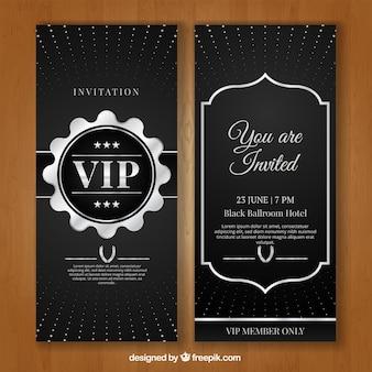 Zilveren vip uitnodiging