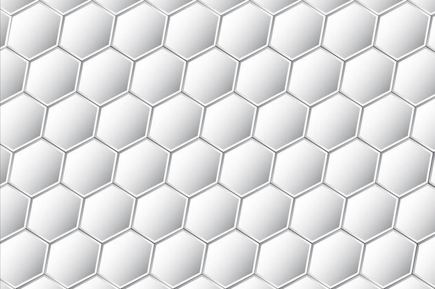 Zilveren zeshoek patroon achtergrond