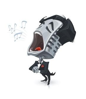 Zingende microfoon