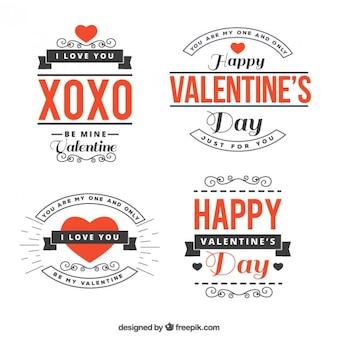 Zinnen valentijn dag pak