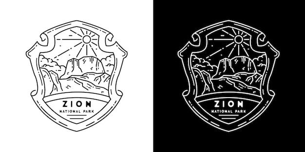 Zion national park monoline