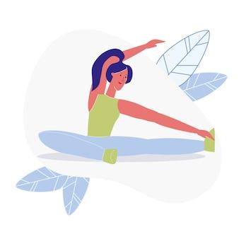 Zittend zijbuig, pilates