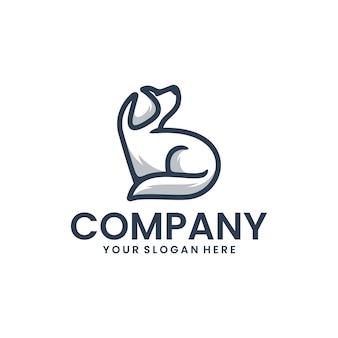 Zittende hondsjabloon, inspiratie voor logo-ontwerp