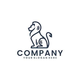 Zittende leeuw, inspiratie voor logo-ontwerp