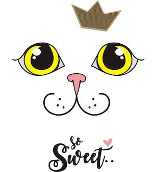Zo lief, schattig kat illustratie