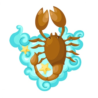 Zodiac signs - scorpio vector illustratie