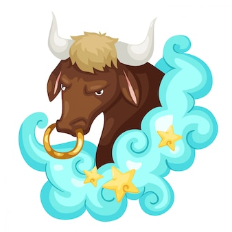 Zodiac signs - taurus vector illustratie