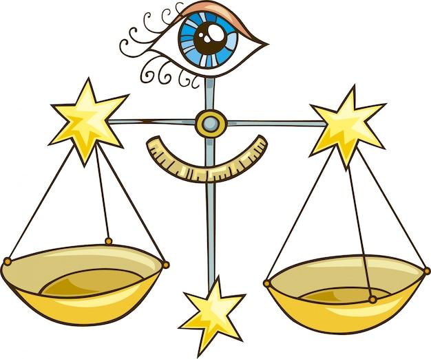 Zodiac weegschaal teken