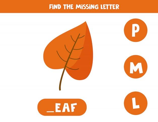 Zoek de ontbrekende brief.