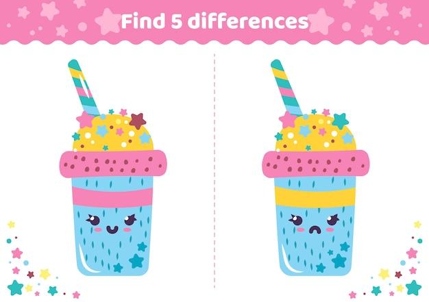 Zoek de verschillen tussen de drank