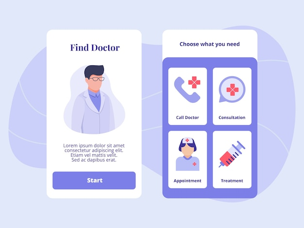 Zoek doktersbezoek afspraak behandeling