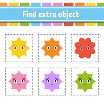 Zoek een extra object. werkblad voor educatieve activiteiten voor kinderen en peuters.